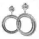 Вечерние серьги Brosh Jewellery, фото 2