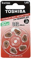 Батарейки слуховые Toshiba 312 PR41 NE DP-6  312