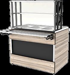 Прилавок холодильный LC Cap 1120 h=100 мм (на 3 GN1/1)