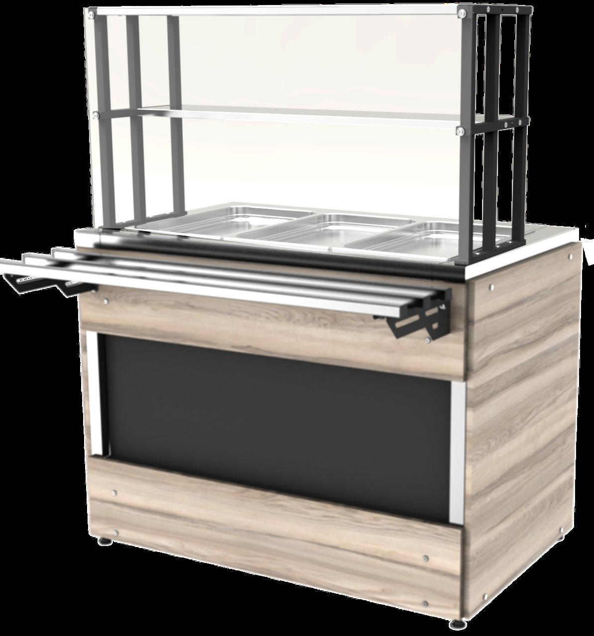 Прилавок холодильный LC Cap 800 h=100 мм (на 2 GN1/1)