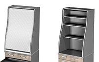 Стеллаж с роллетой  (Полки ДСП) для мини-кухни Ф11/М1, фото 1