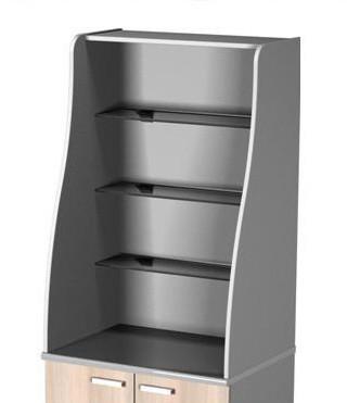 Стеллаж без роллеты  (Полки Стекло) для мини-кухни Ф11/М3