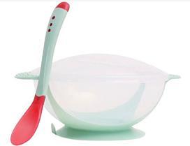 Тарелка на присоске с термоложкой (посуда)