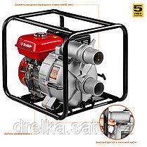 Мотопомпа бензиновая, ЗУБР МПГ-1000-80, для грязной воды, 1000 л/мин (60 м3/ч), патрубки 80 мм, напор 26 м, фото 2
