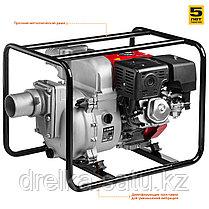 Мотопомпа бензиновая, ЗУБР МПГ-1800-100, для грязной воды, 1800 л/мин (108 м3/ч), патрубки 100 мм, напор 30 м, фото 3
