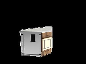 Прилавок нейтральный угловой внутренний 45 градусов LU20Steel45