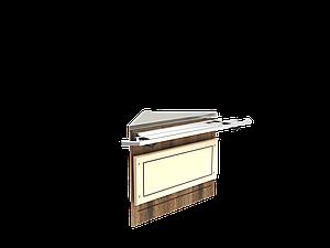 Прилавок нейтральный угловой внешний 90 градусов LU10 Steel 90