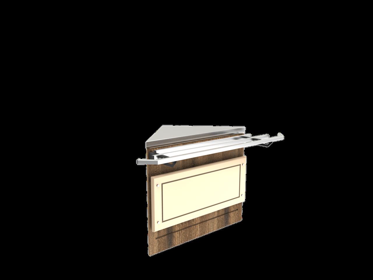 Прилавок нейтральный угловой внешний 45 градусов LU10 Steel 45
