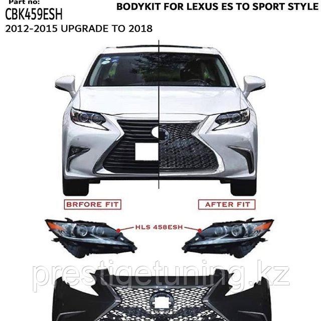 Комплект рестайлинга для Lexus ES 2012-15 в 2016-18