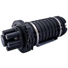 Муфта оптическая тупиковая на 96 волокон (1 овальный+4 круглых ввода)