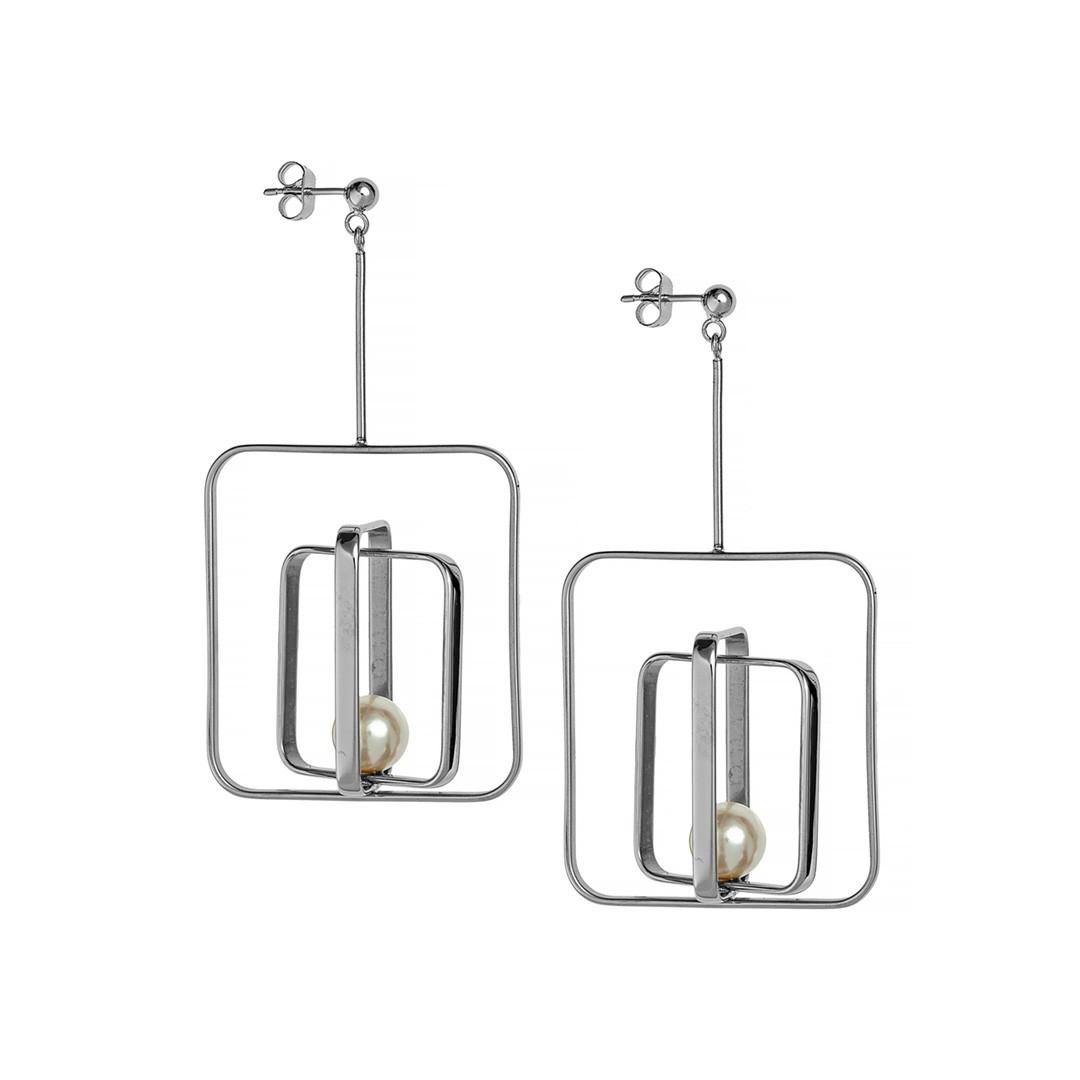 Серьги  Brosh Jewellery Итальянская сталь. (Серебро)