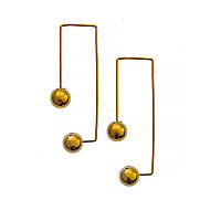 Серьги Brosh Jewellery Итальянская сталь. (Золото)