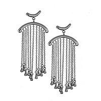 Серьги кисти Brosh Jewellery Итальянская сталь. (Серебро)