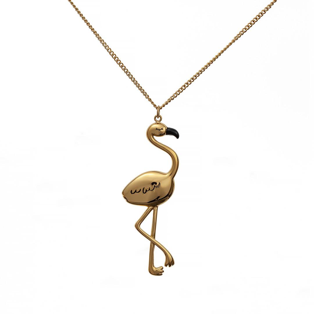 Колье Фламинго Brosh Jewellery. Итальянская сталь