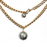 Колье - Цепь Brosh Jewellery. Итальянская сталь. Цвет; золото.