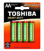 Цинковые батарейки Toshiba HEAVY DUTY R6KG BP-4 TG SS-F AA