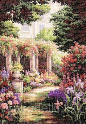 """Набор для вышивания крестом """"Цветочный дворик"""""""