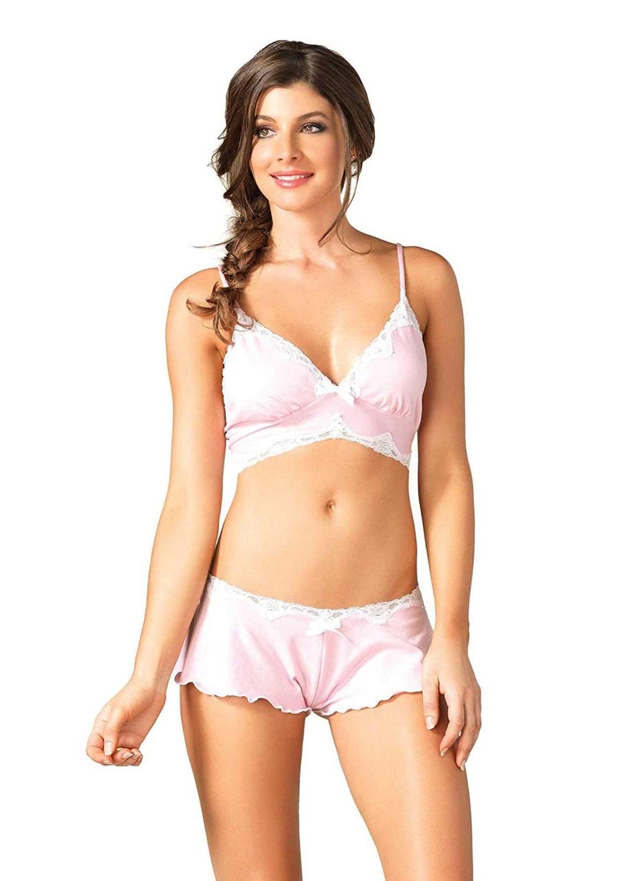 Розовый комплект - Leg Avenue, размер L (46)