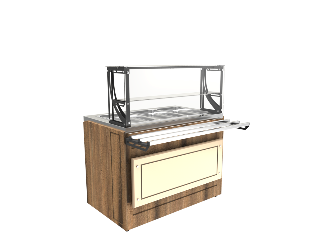 Прилавок холодильный LPC Steel 805 h=20 мм