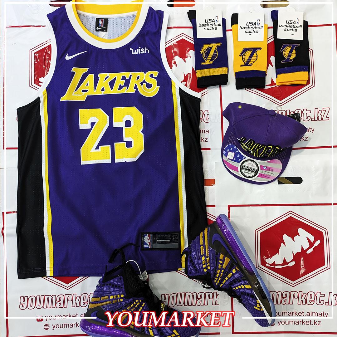 Баскетбольная майка (Джерси) Lebron James Lakers