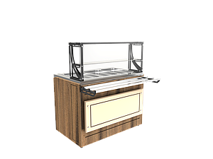 Прилавок холодильный LPC Steel 1505 h=100 мм (на 4 GN1/1)