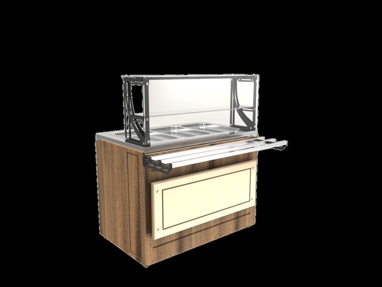 Прилавок холодильный LPC Steel 805 h=100 мм (на 2 GN1/1)