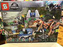"Конструктор SY 1082 Bela 10920 ""Побег Ти-Рекса"" 298 деталей (Аналог лего Lego Jurassic World 10758)"