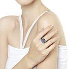 Кольцо SOKOLOV серебро с родием, ситалл корунд фианит эмаль 92011697, фото 2