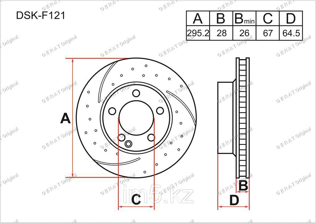 Тормозные диски Mercedes SLK-Класс. W172 2011-Н.В 1.8i (Передние)