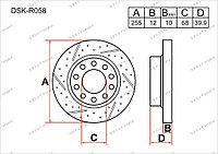 Тормозные диски Mercedes C-Класс. W203 2000-2007 2.7CDi (Задние)