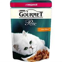 Gourmet Perle Mini Fillets Beef in Sauce, Гурмэ Перл нежные кусочки с говядиной в соусе, уп.24*85 гр.