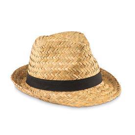 Шляпа из натуральной соломы и полиэстера