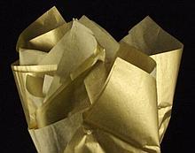 Бумага тишью, tissue paper ,Золото, 20 шт. 50х66 см, Алматы