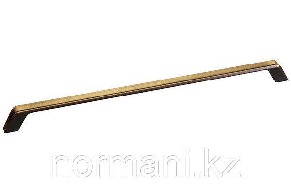 Мебельная ручка, замак, размер посадки 320мм, отделка бронза античная французская
