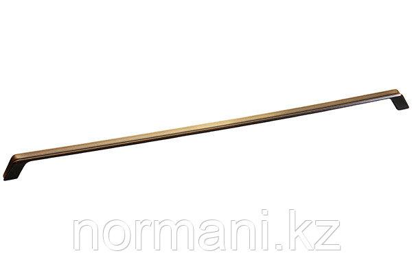 Мебельная ручка, замак, размер посадки 480мм, отделка бронза античная французская