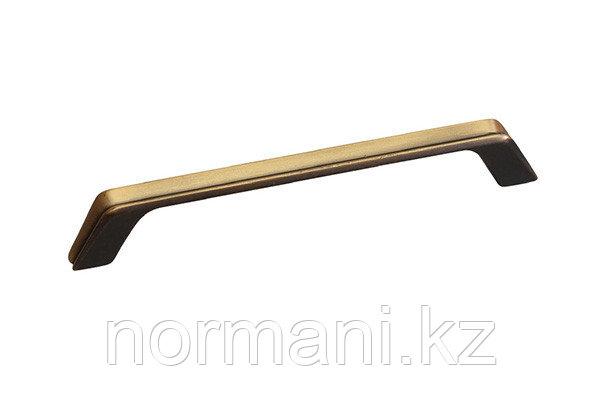 Мебельная ручка, замак, размер посадки 160мм, отделка бронза античная французская
