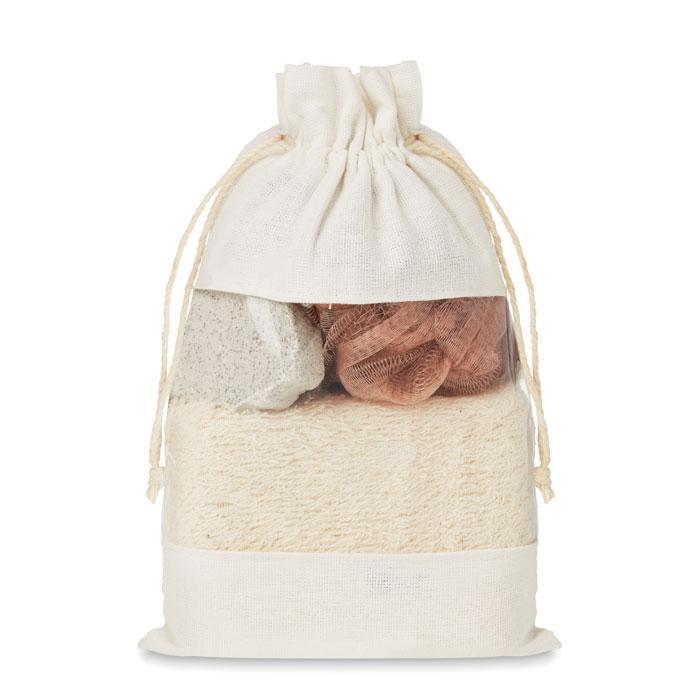 Набор для Ванны в джутовой сумке, CUIDA SET
