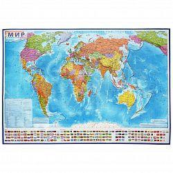 Карта настенная Мир Политический 1:21,5М 107х157см ламинированная