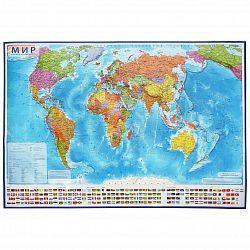 Карта настенная Мир Политический 1:21,5М 107х157см ламинированная, фото 2