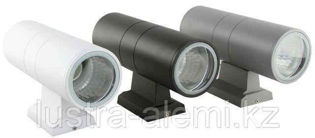 Светильник Фасадный 1002 2-сторона  d=90мм  WH LED