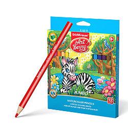 Erich Krause Акварельные Цветные карандаши, 12 цветов
