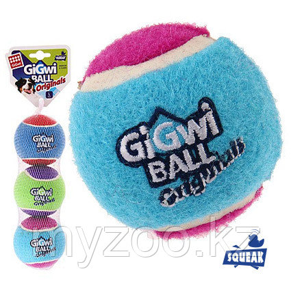 GigWi, ГигВи  Три мяча с пищалкой 8см