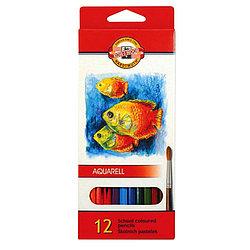Koh-I-Noor Акварельные Цветные Карандаши «Рыбки», 12 цветов