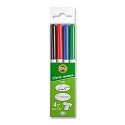 Koh-I-Noor Набор Маркеры по ткани 3203, 4 цвета, (2мм)