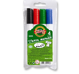 Koh-I-Noor Набор Маркеры по ткани 3205, 4 цвета, (2,5 мм)