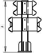 Мостовые ограждения барьерные 11-МД-1,0-450 кДж У7
