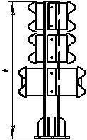 Мостовые ограждения барьерные 11-МД-1,0-600 кДж У10