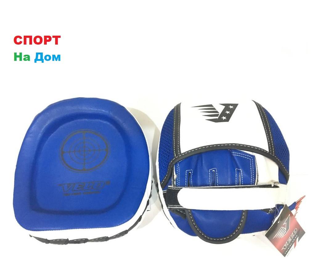 Лапы для бокса Velo кожа (цвет Синий)