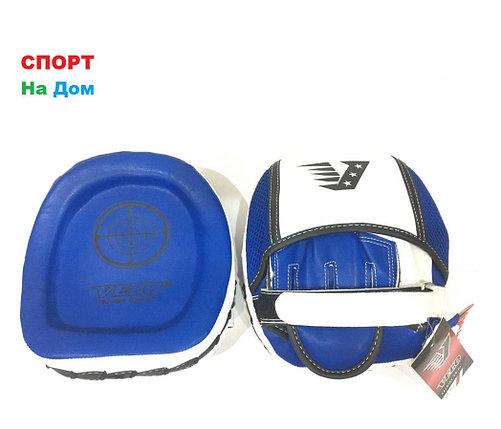 Лапы для бокса Velo кожа (цвет Синий), фото 2