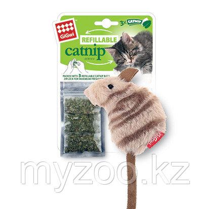 GigWi, ГигВи Мышка с кошачей мятой 10.см